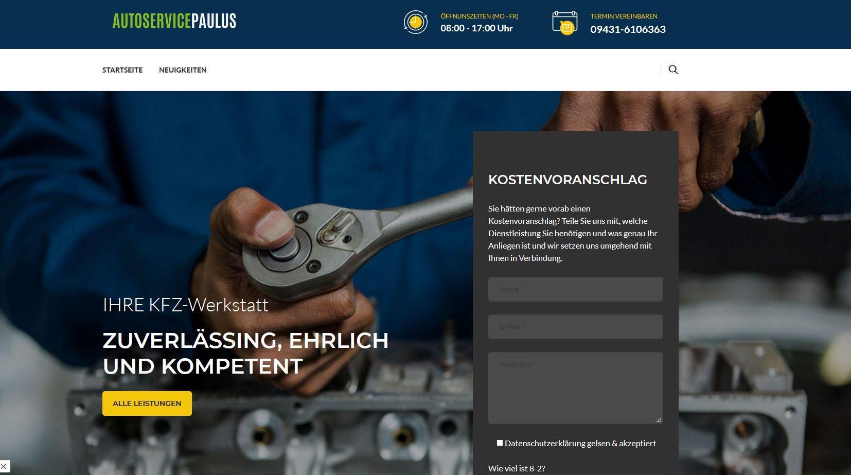 AutoService Paulus - Öl Wechsel Woche ab 24,90€